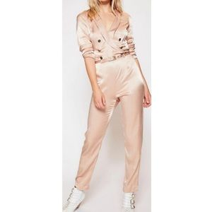 FREE PEOPLE I Am a Woman Jumpsuit Double Breasted